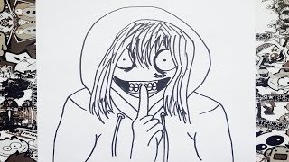 getlinkyoutube.com-Como dibujar a jeff the killer | how to draw jeff the killer