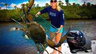 getlinkyoutube.com-CRABS!!! CATCHING, CLEANING, EATING!!! DMFD!!! Tasty Tuesday
