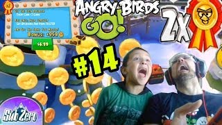 Angry Birds GO! SUB-ZERO Pt. 14 COIN DOUBLER! + STUNT Track Updates w/ WATER