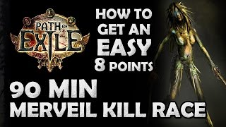 "getlinkyoutube.com-Path of Exile Race Commentary: ""90 Min Merveil Kill"" - How to Get an Easy 8 Points (Shadow)"