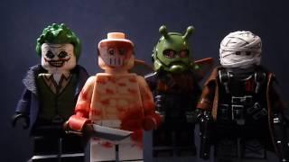 getlinkyoutube.com-Custom Lego Batman Villain Minifigures Part 7 (Hush, Zsasz, Killer Moth, and The Joker)