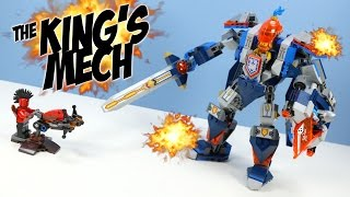 getlinkyoutube.com-LEGO Nexo Knights The King's Mech Opening Fast Build Review
