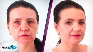 getlinkyoutube.com-Makijaż kobiety dojrzałej w odcieniach NUDE - Metamorfozy MakeupTV - Zdzisława