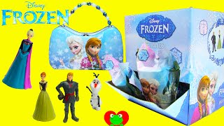getlinkyoutube.com-Frozen Figurine Blind Bags with Elsa and Anna Tin Purse