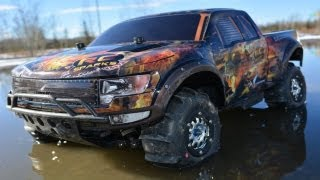 getlinkyoutube.com-RC ADVENTURES - Snow & MUD? Simply an Invitation. Traxxas Slash 4x4, Juggernaut & Kyosho Rally Car