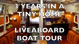 getlinkyoutube.com-Life is Like Sailing - 3 Years in a Tiny Home - A Liveaboard Boat Tour