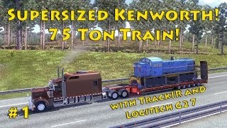 getlinkyoutube.com-Euro Truck Sim 2 - Supersized Kenworth and 75 Ton load! Part 1
