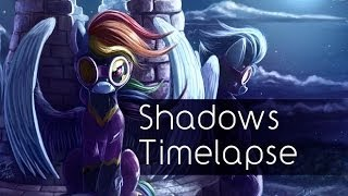 getlinkyoutube.com-Shadows (Art Timelapse, and new Print!)