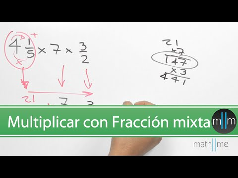 Multiplicar una fracción mixta, un entero, fracción. Multiplying a mixed fraction and whole number