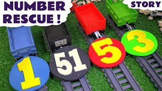 getlinkyoutube.com-Thomas & Friends Play Doh Stop Motion Toy Trains Prank Story with Minions Numbers Theft ToyTrains4u