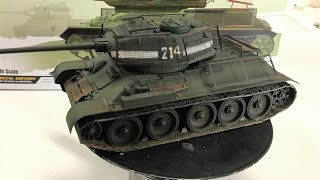 Building the 1/35 Academy Models T34/85 with Bed spring armor