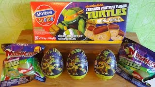 getlinkyoutube.com-TMNT Surprise Eggs Mystery Blind Bags Mashems Toys Mix Unboxing