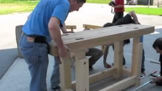 getlinkyoutube.com-Assembling a Traditional Workbench