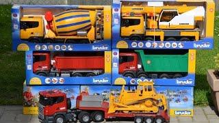 getlinkyoutube.com-BRUDER Toys 5 Scania Truck Family
