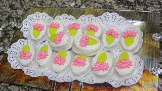 getlinkyoutube.com-حلوى التمر والكركاع منسمة بالهيل  Gâteau des dates et de la saveur de la cardamome écrous
