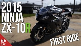 getlinkyoutube.com-2015 Kawasaki Ninja ZX-10R | First Ride