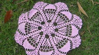 getlinkyoutube.com-Como hacer tapete o centro de mesa a crochet tutorial