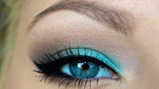 getlinkyoutube.com-Getting Ready ♡ Turquoise Smokey Eye