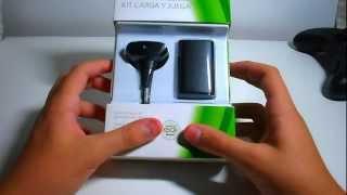 getlinkyoutube.com-unboxing - bateria e carregador para controle do XBOX360