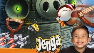 getlinkyoutube.com-Angry Birds STAR WARS toy - JENGA DEATH STAR GAME - Unboxing, Review and Demonstration!