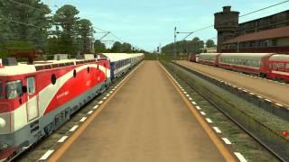 getlinkyoutube.com-Diverse trenuri pe ruta Caransebes - Orsova ( trainz 2009 )