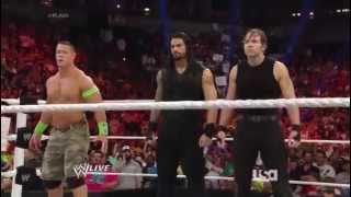 getlinkyoutube.com-The Shield and John Cena vs. The Wyatt Family (June 9, 2014)