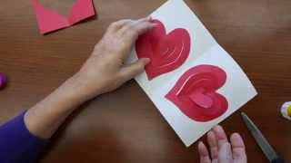 getlinkyoutube.com-Valentine's Day Pop-up Greeting Card with a Double Spiral Heart