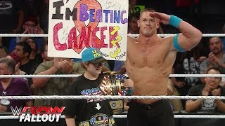 getlinkyoutube.com-John Cena welcomes a courageous member of the WWE Universe to the ring: Raw Fallout, June 1, 2015