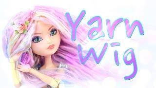 getlinkyoutube.com-DIY - How to Make: Doll Yarn Wig - Handmade - Craft - 4K