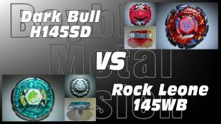 getlinkyoutube.com-Dark Bull H145SD VS Rock Leone 145WB - AMVBB Beyblade Battle