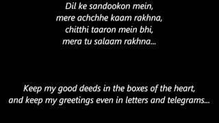 Channa Mereya with Lyrics and English Translation - Movie Ae Dil Hai Mushkil - Singer Arijit Singh