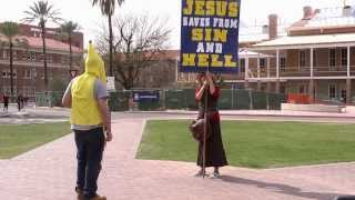 getlinkyoutube.com-Banana Man vs Jesus Freaks - University of Arizona