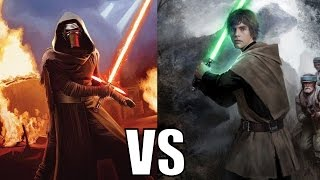 getlinkyoutube.com-Kylo Ren vs Luke Skywalker (Canon)
