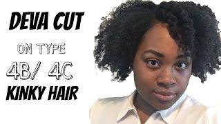 Deva Cut on Type 4 Kinky Hair