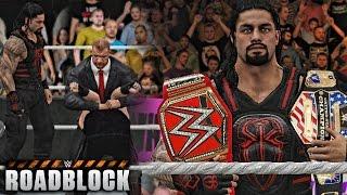 getlinkyoutube.com-WWE 2K17 Roadblock 2016 - Roman Reigns vs Kevin Owens & Triple H Attack Owens