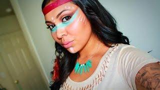 getlinkyoutube.com-Native American Inspired Makeup Tutorial
