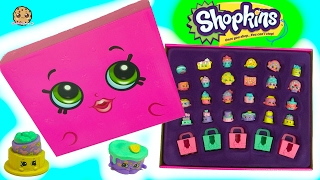 getlinkyoutube.com-Full Set of 24 Shopkins Lost Mystery Edition Box Pack with 6 Exclusive Cakes