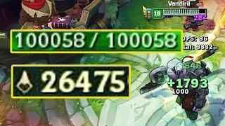100000 HP+ 賽恩 在吃了26000隻兵之後
