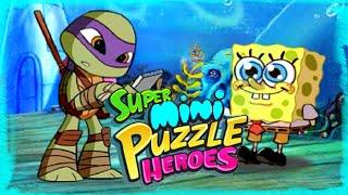 getlinkyoutube.com-Super Mini Puzzle Heroes Gameplay Episode | Spongebob Ninja Turtles Power Rangers Play The Game