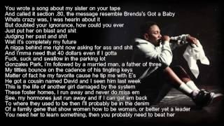 Kendrick Lamar - Sing About Me (HD Lyrics) width=