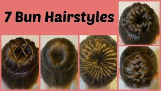 7 Ways To Make A Bun Using A Hair Donut Compilation! 1 Week Of Bun Hairstyles width=