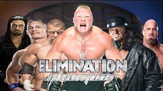 getlinkyoutube.com-Triple H vs Reigns vs Goldberg vs Undertaker vs Cena vs Brock Lesnar WWE Elimination Chamber Match