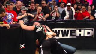 getlinkyoutube.com-Triple H and Brock Lesnar get involved in a fight between Mr. McMahon and Paul Heyman: Raw, Feb. 25,