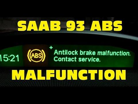 Saab 9-3 ABS/TCS/ESP malfunction repair