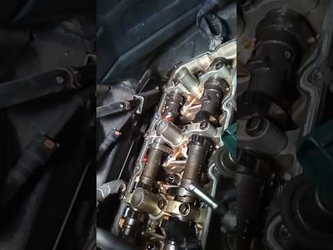Замена прокладки клапанной крышки правой infiniti fx45 ( vk45de)
