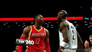 getlinkyoutube.com-Dwight Howard, Kevin Garnett fight -- Nets/Rockets 1/12/2015