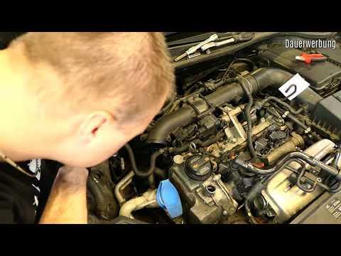 VW 1.4 TSI timing chain replace full video BLG engine -GERMAN-