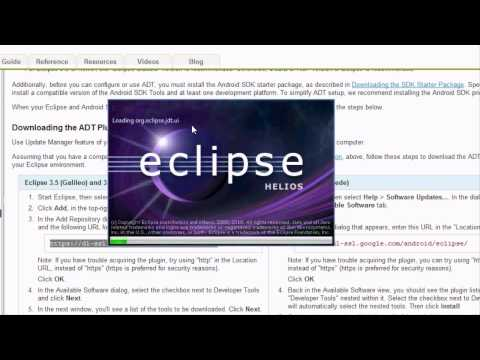 Android Tutorial &amp; Lessons 1: Installing Eclipse and SDKs