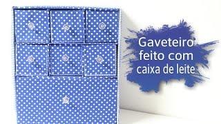 getlinkyoutube.com-Gaveteiro feito com caixa de leite