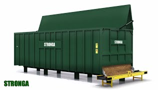 Stronga FlowFeeda 60 – Biomass woodchip fuel storage and feeder module